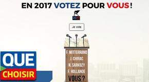 L'UFC-Que Choisir lance «votezpourvous2017.fr»